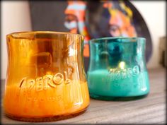 APEROL recycling bottle! soy wax candles! let nature light!