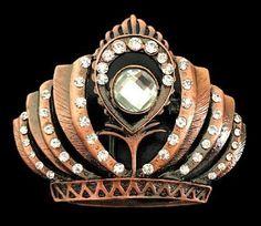 Crown Beauty Queens Pageant Crowns Rhinestones Belt Buckle Buckles Cool Belt Buckles, Crown Art, Pageant Crowns, Queen Crown, Rhinestone Belt, Beauty Queens, Girly, Brooch, Unisex
