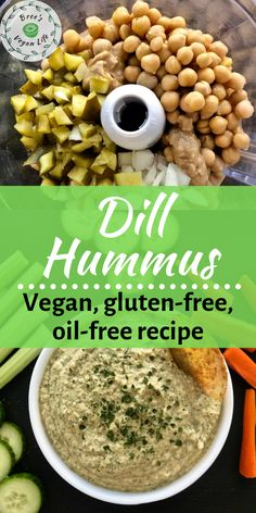 Recipes Snacks Savoury This hummus is a great healthy vegan dip. The recipe is oil free and gluten free. Use it as a chip or veggie dip. Healthy Hummus, Vegan Hummus, Hummus Recipe, Vegan Appetizers, Vegan Snacks, Healthy Snacks, Vegan Lunches, Vegan Meals, All You Need Is