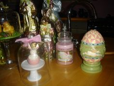 easter kitchen display Kitchen Display, Lava Lamp, Table Lamp, Easter, Decorations, Candles, Home Decor, Table Lamps, Decoration Home