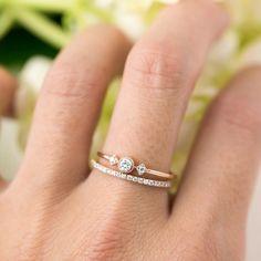 Meteor Diamond Pave Thin Band – Envero Jewelry