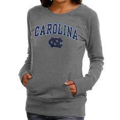 North Carolina Tar Heels (UNC) Women's Scoop Neck Fleece Sweatshirt - Ash