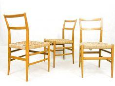 3 x Leggera dinner chair by Gio Ponti for Cassina, 1950s