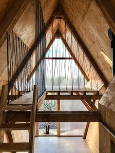 Tiny prefab mobile home was built from salvaged materials - Curbed A Frame House Plans, A Frame Cabin, Cabins In The Woods, House In The Woods, Tiny House Cabin, Forest House, Mobile Home, Bungalows, Interior Design Inspiration