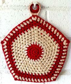 Five Sided Granny Potholder – Free Crochet Pattern