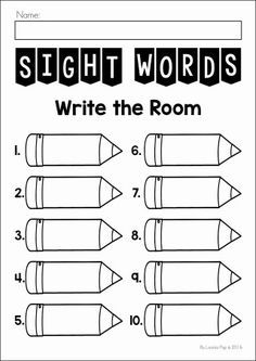 in the Dark Sight Words FREE Sight Words Write the Room printable.FREE Sight Words Write the Room printable. Teaching Sight Words, Sight Word Practice, Sight Word Games, Sight Word Activities, Sight Word Worksheets, Preschool Activities, Kindergarten Writing, Teaching Reading, Kindergarten Classroom
