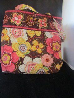 Details about Vera Bradley Buttercup Bowler Floral Handbag 1f08c0c0157ae