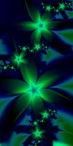 Fractals - Glowing In The Dark - By Esmerald Eyes on deviantART Fractal Images, Fractal Art, Colorful Pictures, Pretty Pictures, 3d Fantasy, Fractal Design, Foto Art, Art Graphique, Wallpaper Backgrounds