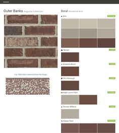 Briarwood augusta collection residential brick boral behr benjamin moore ppg paints - Breathable exterior masonry paint collection ...