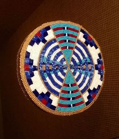beaded medallion by Norma Flying Horse