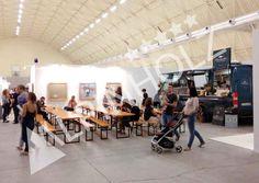 Mesas y bancos plegables para catering de Alpinholz