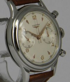 Longines Stainless Steel Chronograph Wristwatch | From a unique collection of vintage wrist watches at http://www.1stdibs.com/jewelry/watches/wrist-watches/ #luxurywatch #Longines-swiss Longines Swiss Watchmakers watches #horlogerie @calibrelondon