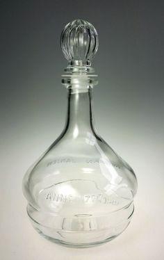 """Vintage, Herman Jansen, Anno 1777, Liquor Bottle. Item: Decanter Bottle Brand: Herman Jansen Model: Anno 1777 Material: Glass Dimensions: 9"""" H Age: 1970s Access"""