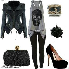 Punk ... but not those shoes ... need some low black boots for this ;D