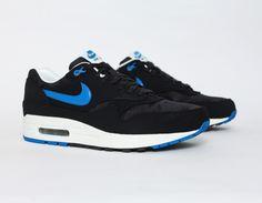 #Nike Air Max 1 Black Blue