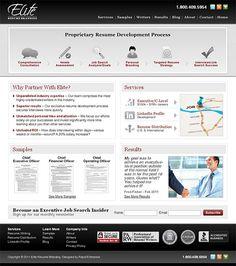 Elite Resume Branding - website design, xhtml/css, ecommerce, blog (wordpress)