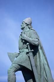 Leif Ericson was born in Iceland around 975. He was the son of Eric the Red, who started the first European settlement of Greenland in 985. One story says that while he was in Norway, he may have become a Christian. King Olaf I of Norway wanted Leif to go back to Greenland and teach the Vikings there about Christianity. As Leif was sailing back to Greenland, he was blown off course and he ended up in North America instead of Greenland.