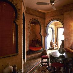 Moroccan style in the living room