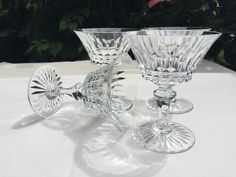 Vintage Baccarat French Crystal Stemware Champagne Glasses Set of 4 Sherbert by EssexCottage on Etsy