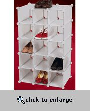 Modular Shoe Cubby with 15 Cubbies
