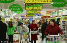 People can obtain food in supermarket in England
