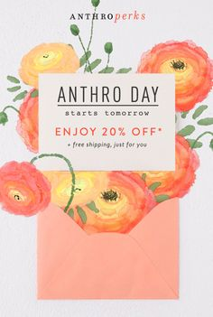 Lucky you! Anthro Day begins tomorrow.