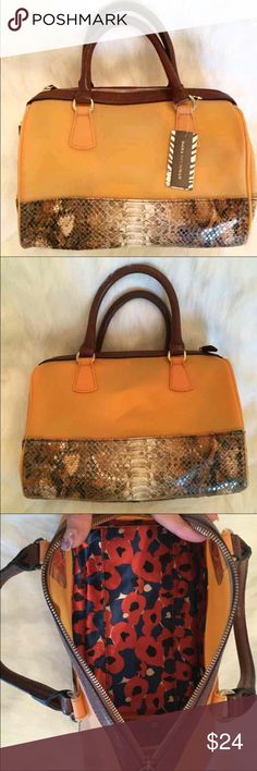 Dana Buchman Satchel NWT Authentic Never Worn Dana Buchman Satchel! This beautiful orange satchel is a jelly/plastic material perfect for the Fall!! No pockets but lots of room for daily essentials! Ask questions :) Dana Buchman Bags Satchels