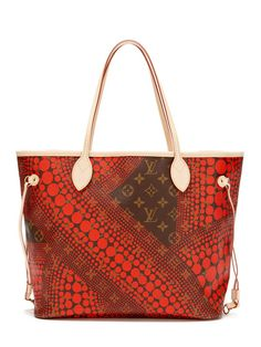 Louis Vuitton Limited Edition Kusama Red Neverfull MM