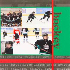 "Simple w/ multi picture.  Like the ""hockey"" paper."