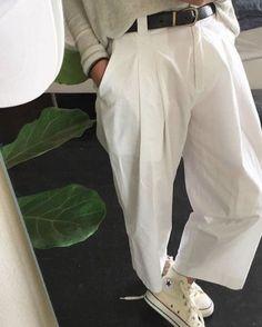 Crisp white trousers