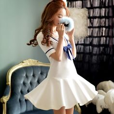 Cheap women dress pant, Buy Quality dress tie directly from China dress motif Suppliers:                              Original Brand Chiffon Dress Plus Size Slash Neck Elastic Waist Ski
