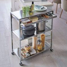 Utility Sink, Kitchen Essentials, Kitchen Cart, Small Spaces, Shelves, Storage, Interior, Table, Room