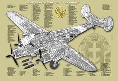 Image result for Cant Z 1007 Old Planes, Aircraft Design, Cutaway, Ww2, Ideas Para, Guns, Diagram, Models, Drawings