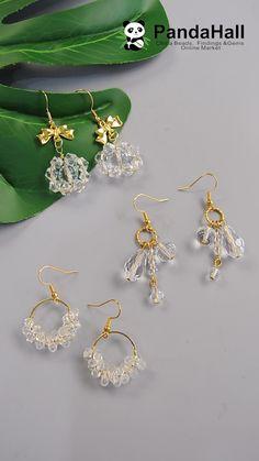 Wire Jewelry Designs, Diy Crafts Jewelry, Handmade Beaded Jewelry, Jewelry Patterns, Diy Schmuck, Schmuck Design, Diy Earrings Easy, Homemade Jewelry, Bead Jewellery