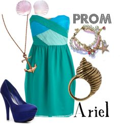 """Prom: Ariel"" by disneydiva305 ❤ liked on Polyvore"