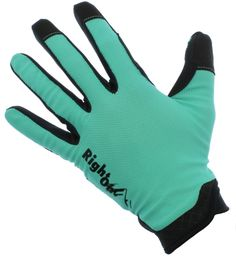 RightOn SIMPL Mountain Bike Gloves, Unisex Cycling Gloves, Full Finger MTB DH Downhill Off Road Gloves with Touch Recognition (Cyan/Black, M). A Unique array of colors to choose from, more than any other mountain bike gloves. No padding, No Velcro, No problem. Just the most comfortable mountain bike glove out there. Made with very Flexible Spandex for added elasticity and ventilation when riding. Perfect for Downhill, MTB, Mountain Biking or even Road Cycling. Conductive material on the...