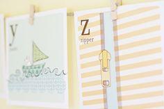 Free printable letters and more! #art #print #printable #free