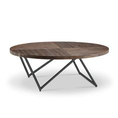 Bixler Oval Cocktail Table in Distressed Nutmeg