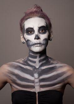 skeleton make up - Google Search