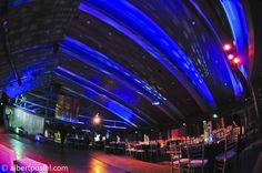 Malibu Jewish Center - Ceiling lighting - Blue - Bar Mitzvah - Lighting design - DB Creativity - laura@dbcreativity.com