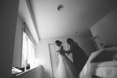 Bride preps for her wedding at The Palace at Somerset Park, NJ. Captured by awesome NJ wedding photographer Ben Lau.