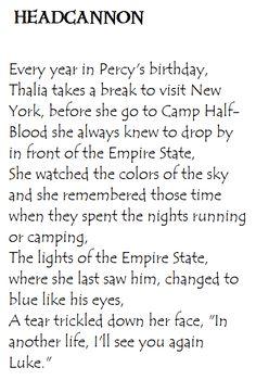 Heroes of Olympus Headcannon. Thalia and the Empire State Building. Percy Jackson Head Canon, Percy Jackson Books, Percy Jackson Fandom, Tio Rick, Uncle Rick, Solangelo, Percabeth, Thalia Grace, Percy Jackson Characters