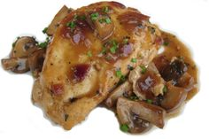 Chicken and mushrooms with wine and tarragon recipe Mushroom Chicken with White Wine Sauce - Dinner Party Favorite #cooking #recipes http://thegardeningcook.com/mushroom-chicken/