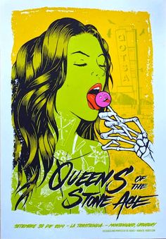Queens of the Stone Age - RE-Robot Studio - Setembre 30 de 2014, La Trastienda, Montevideo, Uruguay poster