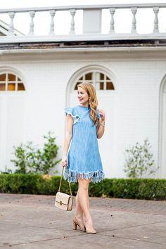 denim fringe dress - lonestar southern