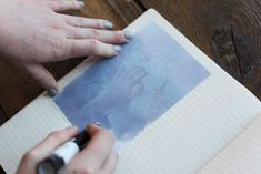 Use an inexpensive blender pen to get a cool image transfer effect on paper, wood, ceramic, fabric, and more.