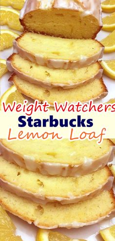 Starbucks Lemon Loaf Cake: Rich pound cake bursting with lemon flavor. Your favorite coffee house treat, easily made at home! Ww Recipes, Skinny Recipes, Gourmet Recipes, Cake Recipes, Dessert Recipes, Cooking Recipes, Loaf Recipes, Atkins Recipes, Breakfast Recipes