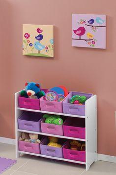 Consiente a tus niñas con este organizador de juguetes ideal para ellas. Girl Room, Girls Bedroom, Baby Room, Bedroom Decor, Home Decor Furniture, Kids Furniture, Colorful Playroom, Kids Bedroom Designs, Kids Room Organization