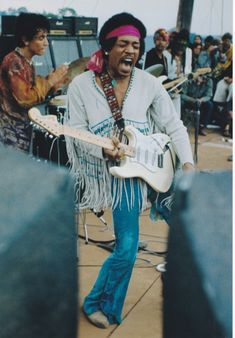 Jimi Hendrix at Woodstock, 1969