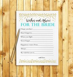 Printable fun activity for your bridal shower. Print as many as you need right from home or your nearest print shop! ** THIS LISTING IS FOR A DIGITAL FILE ONLY - NO PHYSICAL PRODUCTS WILL BE SHIPPED TO YOU ** WHAT'S INCLUDED: ___________________________________ 1 High Resolution PDF file